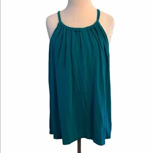 Old Navy Teal Solid Sleeveless Tank Top